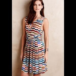 Anthropologie Maeve Sennebec Midi Colourful Dress